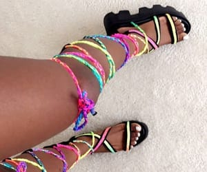 colorful, strings, and fashion image
