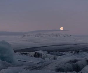 moon, sky, and winter image