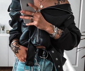 accessories, tattoo, and black image