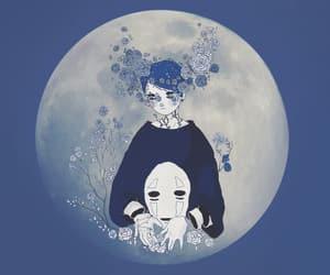 anime, moon, and art image