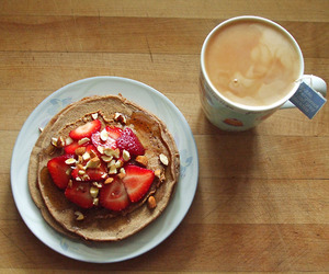 almonds, coffee, and meal image
