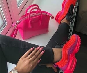 bag, pink, and shoes image