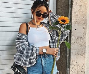 fashion, flower, and flowery image