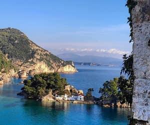 breakfast, Greece, and sea image