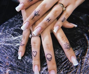 ink, nails, and tattoo image