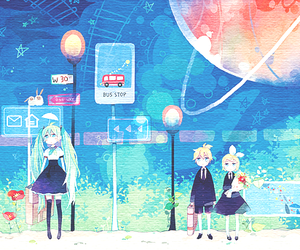 vocaloid, miku, and anime image