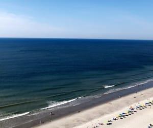 ocean, beach, and blue skies image