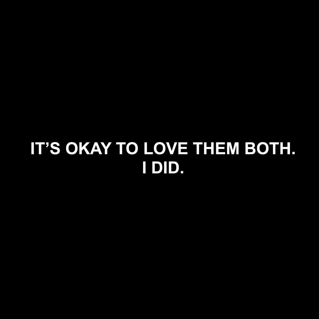 Loving two people uploaded by zee_( ; on We Heart It
