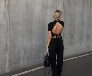 fashion, jumpsuit, and tanned image
