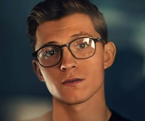 tom holland, boy, and glasses image