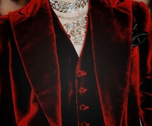 red, fashion, and velvet image