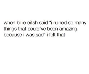 quotes, billie, and sad image