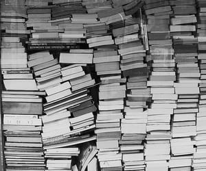 book, black and white, and read image