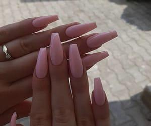 nail art, nail inspo, and pink image