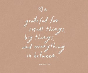 cursive, grateful, and thoughts image