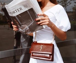 fashion, YSL, and newspaper image