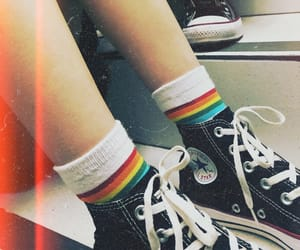 all star, converse, and pride image
