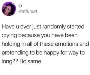 crying, depression, and emotional image