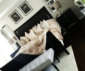 bedroom, gold, and girly image