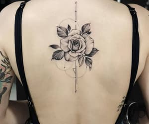 floral, inked, and tattoed image