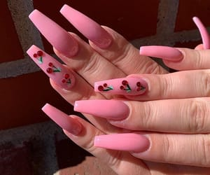 cherry, fashion, and nails image