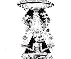 acid, alien, and drawing image