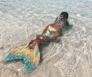 fantasy, magic, and mermaid image