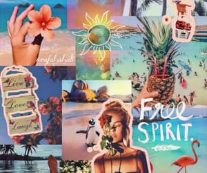 background, beach, and mood board image