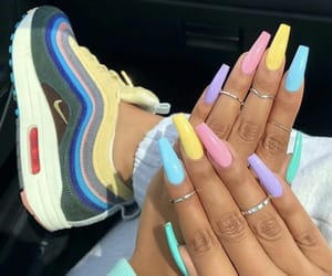 nails, shoes, and pastel image