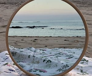 beach, inspiration, and mirror image