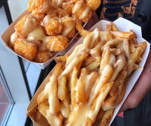 food, cheese, and French Fries image