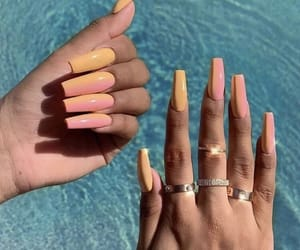 nails, beauty, and summer image