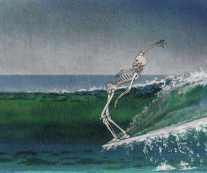 skeleton, art, and surf image