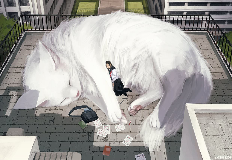 animal, anime, and art image
