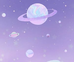 wallpaper, planets, and purple image