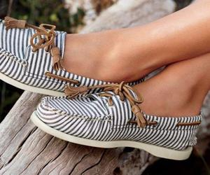 shoes, sperry, and stripes image