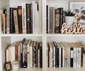 bedroom, book, and books image