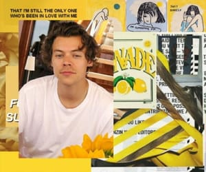 wallpaper, yellow, and Harry Styles image