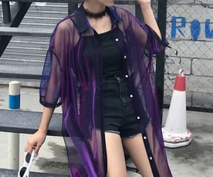 black, purple, and fashion image
