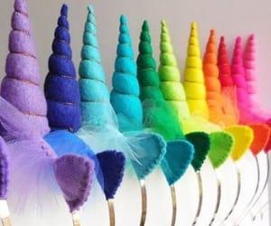 unicorn, colorful, and rainbow image