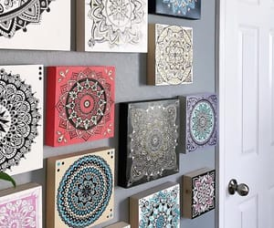 mandalas, cuarto, and pared image