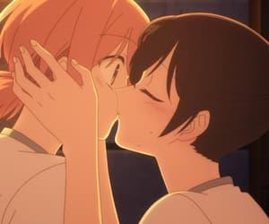 anime, kissing, and mine image