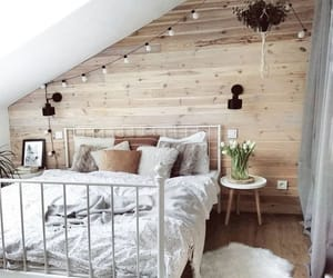 bedroom, Blanc, and bois image