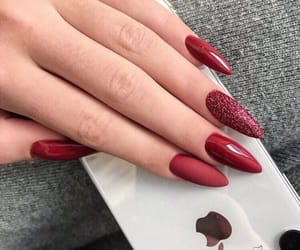 nails, girl, and red image