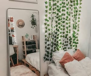 bed, cactus, and girl image