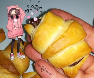 anime, croissant, and sweet image