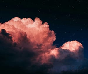 cloud, night, and pink image