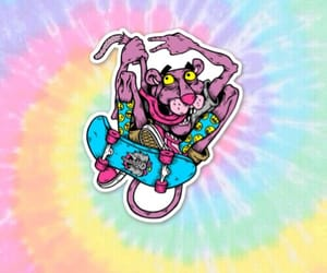 background, skate, and pink panther image
