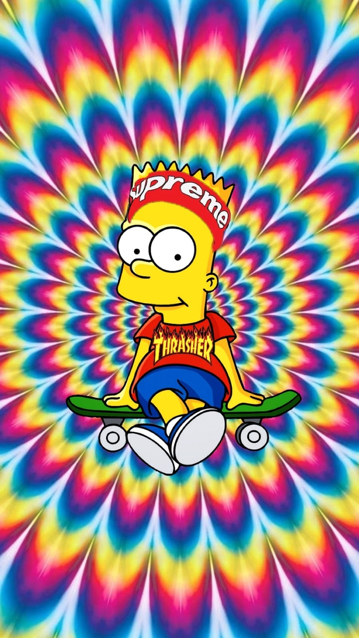 Trippy Cute : Aesthetic Trippy Supreme Simpsons Wallpaper