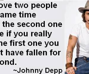 johnny depp, quote, and love image